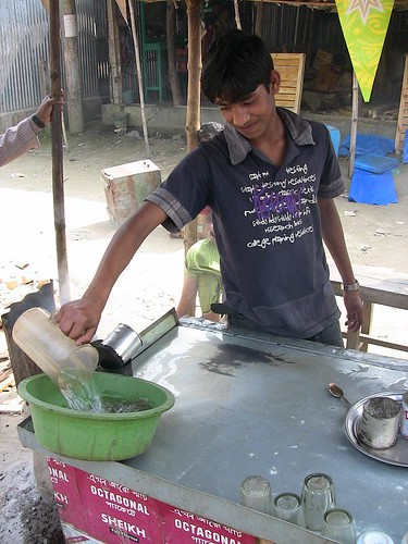 Working at the Tea Shop Stand - 16 Year Old Self-Employed Rural Bangladeshi