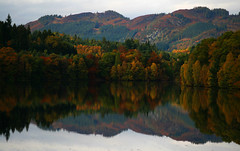 Loch Faskally Reflection (Ian Lambert) Tags: autumn lake reflection tree water electric scotland bravo dam salmon vivid hydro ladder loch pitlochry hydroelectric naturesfinest blueribbonwinner firstquality supershot mywinners superbmasterpiece infinestyle diamondclassphotographer overtheexcellence goldstaraward worldwidelandscapes natureselegantshots faskelly