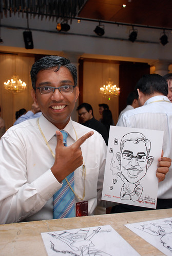 caricature live sketching Singtel Radiance Communications Avaya 3