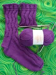Waving Lace Socks