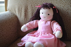 Hattie (UncommonGrace) Tags: pink wool doll handmade yarn cotton waldorfdoll steinerdoll naturalfibers