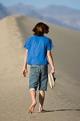 Brandon Wolfe (Eric Wolfe) Tags: california usa sand shoes unitedstates desert dunes barefoot deathvalley hikers original:filename=200704100388jpg