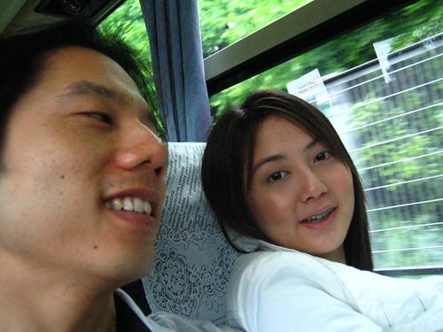 on Limo bus from Shinjuku to Narita