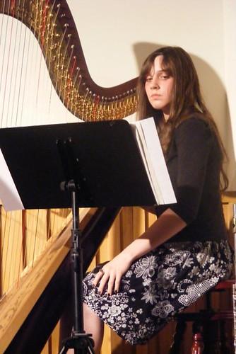 Mollie on Harp