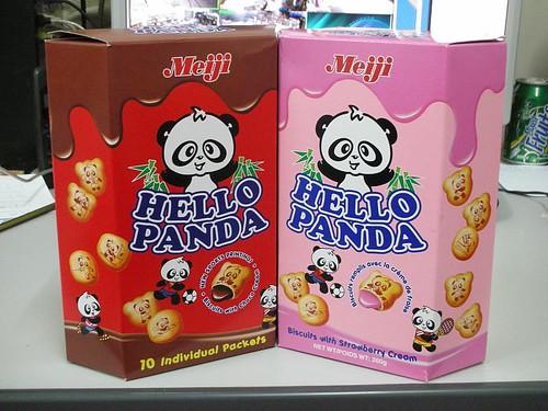 Chocolate Panda and Pink Panda