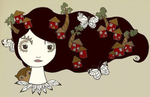 moths and houses (colored)