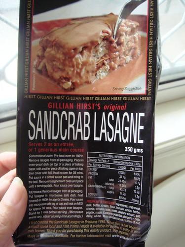 GH Sandcrab Lasagne