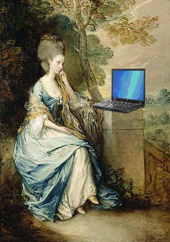Anne, Countess of Chesterfield, Blogging, after Thomas Gainesborough
