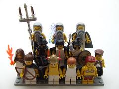 The Twelve Olympians (Shadow Viking) Tags: greek lego pantheon olympus hephaestus greece zeus gods minifig aphrodite minifigs artemis athena apollo poseidon hermes mythology hades myth ares hera hestia olympians foitsop