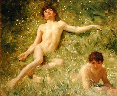 Sunbathers by Henry Scott Tuke