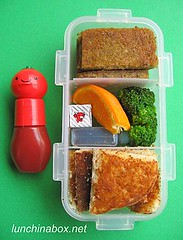 Pancake & scrapple bento lunch for preschooler