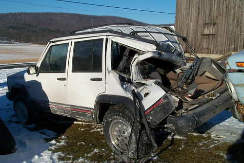 Wrecked Jeep