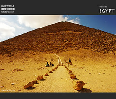 The Red Pyramid -  (fotoEarth) Tags: egypt cairo dahshur dashur  redpyramid    redpyramid