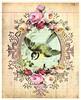 forget me not (ms_mod) Tags: pink roses bird art collage digital vintage paper aqua doll antique mixedmedia magic victorian dream queen ephemera fairy tintype crown etsy baroque kewpie ledger dollfacedesign
