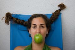 (Shemer) Tags: blue friends portrait green apple dana shemer  shimritabraham