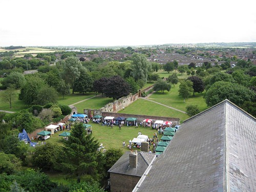 View from the top of the church at Waltham Abbey