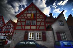 mein Haus HDR (blinkestern) Tags: panorama house architecture frankfurt half architektur altstadt hdr fachwerk höchst timbered weitwinkel