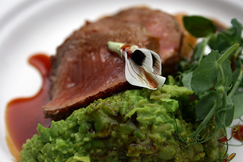 Mendip lamb with truffled peas