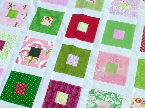 girl quilt, border removed