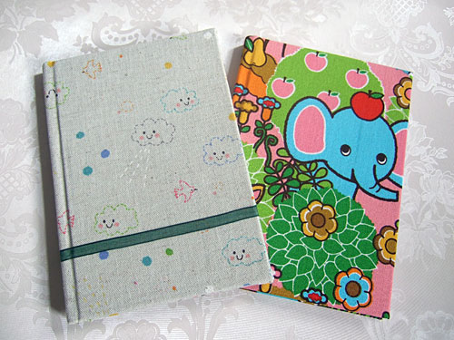 New fabric notebooks