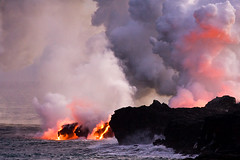 Bigger Big Island #2 (konaboy) Tags: ocean volcano hawaii lava steam bigisland eruption kilauea 9269