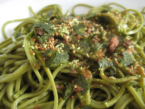 Green Tea Noodle with Japanese Wasabi Topping