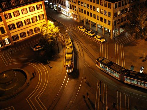 Darmstadt Nachtblick vom Langen Ludwig