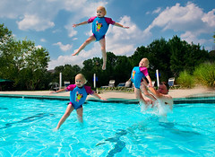 3, 2, 1, Blast Off! (Cooriander) Tags: summer motion water pool children inflight action mykid dh airtime frontpage lightroom interestingness6 d700 2470mmf28g