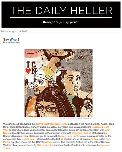 Icon 5 Podcast in The Daily Heller