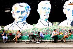 David's Books (Rudy Malmquist) Tags: street bike cafe couple michigan annarbor icecream a2