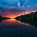 lightning at sunset von wvs