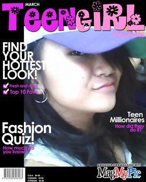 teen-magazine cover girl
