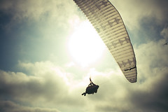 take to the sky (jasfitz) Tags: sky clouds torreypines sandiego paragliding soaring myfearofheightsmeansidoubtiwouldbeabletohandlethis sothatswhyonedayiwilltryitanyway imissedthefocusbutohwell