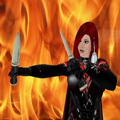 Knife & Fire (Immortelles) Tags: fire knife arial