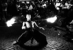 Light my fire.... (Monia Sbreni) Tags: bw fire italia bn buskers ferrara fuoco sfidephotoamatori moniasbreni