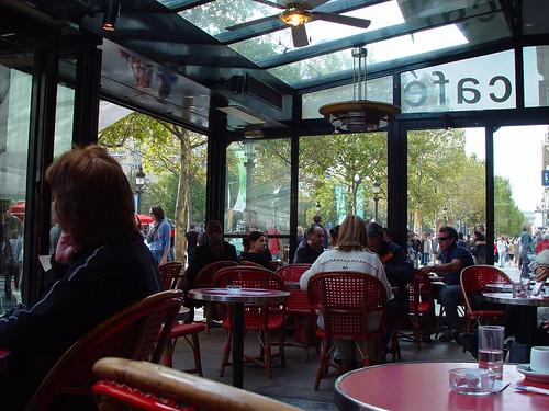 Cafe on Avenue de Champs-Elysees, Paris