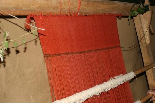 Webstuhl im Haus des Tuchhändlers in Haithabu 24-08-2008