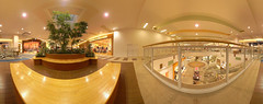 Shopping Mall Panorama (vitroid) Tags: panorama shoppingmall mercator cylindrical aeon