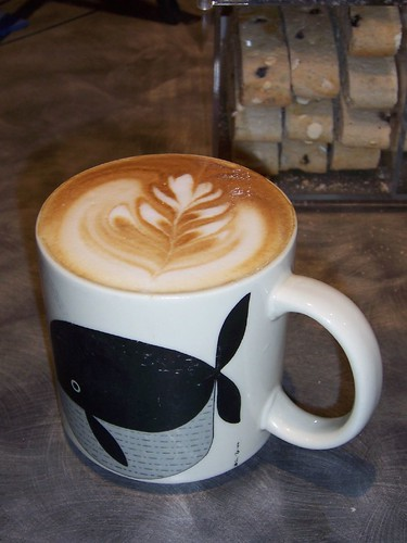 latte in whale cup