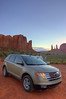 (Maud77) Tags: auto sunset arizona usa southwest car luca sandstone tramonto navajo monumentvalley buttes arenaria ushighway163 siltstone fordedge navajonationreservation tsébiindzisgaii trip2007 siltite