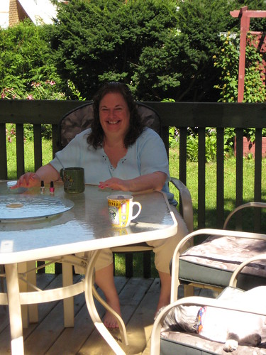 SUMMER 2008, Judy relaxing on the deck