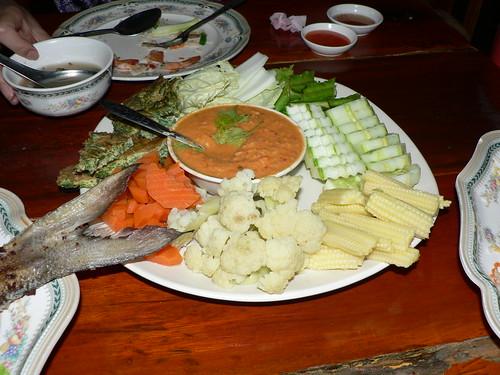 phu nim crab egg crudites