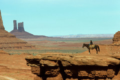 Monument Valley, 1983 (twm1340) Tags: park boy arizona horse monument pose photo indian scenic az tribal nativeamerican valley navajo tribe olympusom1 navaho