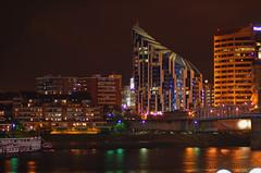Daniel Libeskind Ascent Building - Covington, Kentucky (cdubya1971) Tags: ohio skyline architecture night river kentucky cincinnati architect newport ohioriver daniellibeskind covington greatamericanballpark theascent