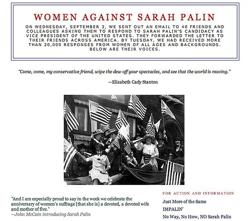 Women Against Sarah Palin