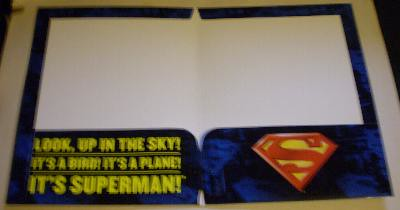 Interior of my second Superman folder from 2006