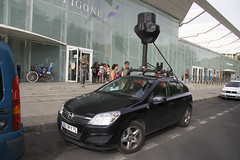 IMG_3156 Montpellier Google Car (Charles Family) Tags: street camera city friends france hardware google europe googlemaps view maps wrapped montpellier jeremy covered laser myfamily 75 sick astra streetview opel piscine rfk 662 narjes googlecar petitshahrvin googlestreetviewcar 662rfk75 662rfk
