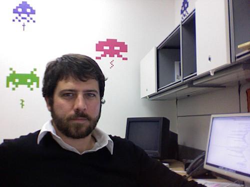 James Craig at his desk