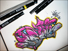 Blackbook (Setik01) Tags: urban streetart holland art netherlands graffiti design sketch paint tag touch nederland culture marker hiphop spraypaint uni graff piece aerosol bombing edding spraycan hoofddorp hema blackbook fatcap posca setik