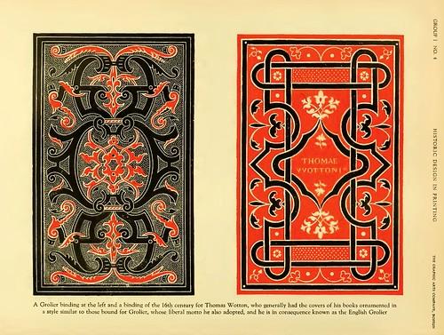 01b- A la izquierda encuadernacion tipo Grolier-a la derecha encuadernacion siglo XVI de Thomas Wotton